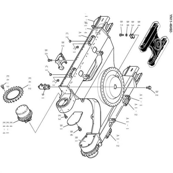 Kobelco SK45SR Hydraulic Final Drive Motor #1 image